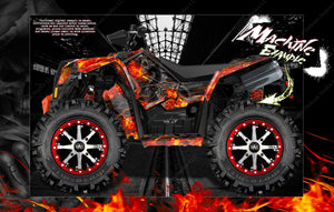 "POLARIS SCRAMBLER 850 & 1000 ""HELL RIDE"" GRAPHICS WRAP DECALS KIT FULL COVERAGE SET - Darkside Studio Arts LLC."