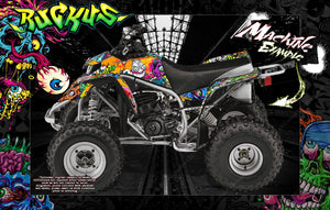'RUCKUS' GRAPHICS WRAP DECAL KIT FITS YAMAHA BLASTER ATV 1990-2006 - Darkside Studio Arts LLC.