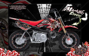 "HONDA 2004-2020 CRF50 PITBIKE GRAPHICS DECALS ""LUCKY"" WRAP JOKER JESTER - Darkside Studio Arts LLC."