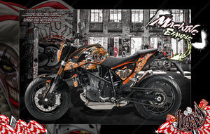 "KTM 2011-2020 DUKE 125 200 390 690 ""LUCKY"" GRAPHICS DECALS WRAP - Darkside Studio Arts LLC."
