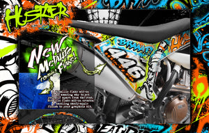 "TRAXXAS MAXX 4S 1/10 HOP-UP GRAPHICS WRAP DECALS ""HUSTLER"" FITS STOCK BODY TRA8914 - Darkside Studio Arts LLC."