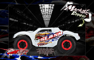 TRAXXAS SLASH 4x4 2WD UNBREAKABLE AND LEXAN BODY HOP UP GRAPHICS 'RIPPER' MINI-KIT - Darkside Studio Arts LLC.