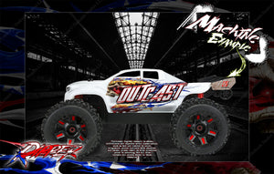 ARRMA OUTCAST UNBREAKABLE AND LEXAN BODY HOP UP GRAPHICS 'RIPPER' MINI-KIT - Darkside Studio Arts LLC.