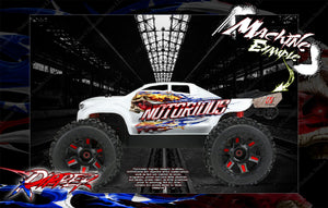 ARRMA NOTORIOUS UNBREAKABLE AND LEXAN BODY HOP UP GRAPHICS 'RIPPER' MINI-KIT - Darkside Studio Arts LLC.