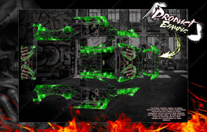 "PRIMAL RC RAMINATOR MONSTER TRUCK WRAP ""HELL RIDE"" GRAPHICS HOP-UP DECAL KIT - Darkside Studio Arts LLC."