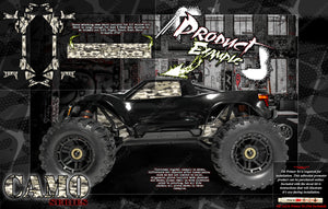 TRAXXAS MAXX 4S 1/10 CHASSIS / SHOCK TOWER 'CAMO' SKIN DECAL ACCESSORY GRAPHICS KIT - Darkside Studio Arts LLC.