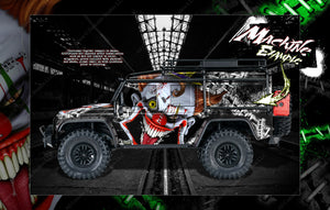 "TRAXXAS TRX-4 GRAPHICS WRAP DECALS ""STIFF UPPER LIP"" FITS DEFENDER AND SPORT - Darkside Studio Arts LLC."