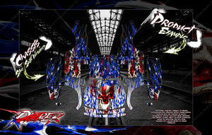 TRAXXAS UNLIMITED DESERT RACER BODY & CHASSIS SKIN WRAP DECAL KIT 'RIPPER' - Darkside Studio Arts LLC.