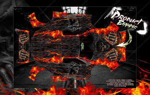 "TRAXXAS XO-1 HOP-UP GRAPHICS WRAP DECALS ""HELL RIDE"" FITS TRAXXAS 6411 CLEAR LEXAN BODY - Darkside Studio Arts LLC."