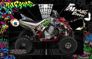 YAMAHA RAPTOR 700 2006-2012 GRAPHICS WRAP 'RUCKUS' WITH CUSTOM COLOR CHOICE - Darkside Studio Arts LLC.