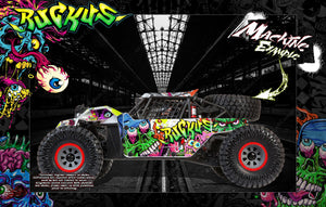 LOSI SUPER BAJA REY / SUPER ROCK REY WRAP DECAL KIT 'RUCKUS' FITS LOS250035 / LOS350002 - Darkside Studio Arts LLC.
