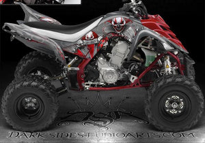 "YAMAHA RAPTOR 700 2006-12 ""THE FREAK SHOW"" GRAPHICS FOR YELLOW PLASTICS KIT SET - Darkside Studio Arts LLC."