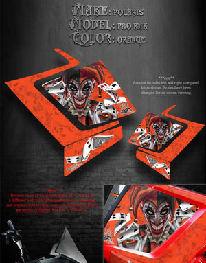 "POLARIS 2011-14 PRO RMK ASSAULT ""THE JESTERS GRIN"" SIDE PANEL GRAPHICS KIT WRAP - Darkside Studio Arts LLC."