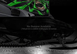 "ARCTIC CAT M-SERIES M8 M7 06-11 HOOD GRAPHICS KIT ""THE DEMONS WITHIN"" WRAP ORNG - Darkside Studio Arts LLC."