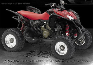 "HONDA TRX700XX GRAPHICS DECALS KIT SET ""THE OUTLAW"" PARTS & ACCESSORIES ALL YEAR - Darkside Studio Arts LLC."