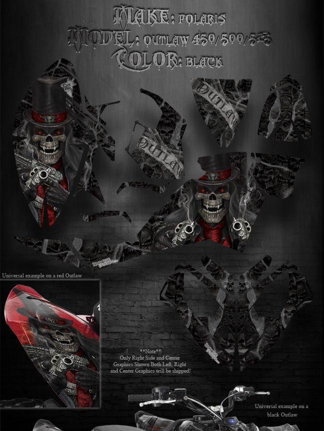 """POLARIS 2006-08 450 500 525 OUTLAW /""""THE DEMONS WITHIN/"""" GRAPHICS KIT FOR OEM PART"""