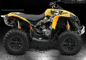 "CAN-AM RENEGADE ""THE FREAK SHOW"" GRAPHICS KIT FOR RED PLASTICS PARTS '11 '12 '13 - Darkside Studio Arts LLC."