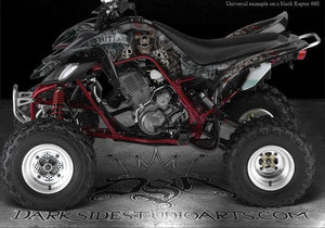 "YAMAHA RAPTOR 660 WHITE DECAL KIT ""THE OUTLAW"" GRAPHICS FENDER PARTS 660R 05 06 - Darkside Studio Arts LLC."