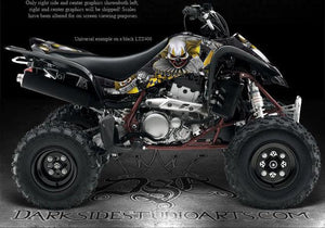 "SUZUKI 03-08 LTZ400 QUADRUNNER GRAPHICS ""THE FREAK SHOW"" FOR YELLOW PARTS Z400 - Darkside Studio Arts LLC."