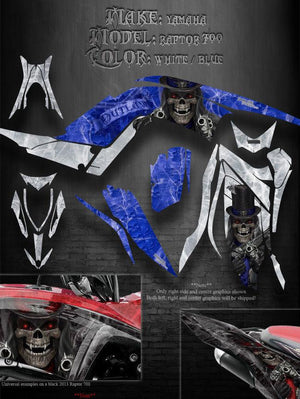 "YAMAHA 2013-2020 RAPTOR 700 ""THE OUTLAW"" GRAPHICS FOR BLUE AND WHITE PARTS 700R - Darkside Studio Arts LLC."