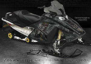 "SKI-DOO 2003-07 MXZ REV RENEGADE GRAPHICS KIT ""THE OUTLAW"" M-XZ FOR RED PARTS - Darkside Studio Arts LLC."