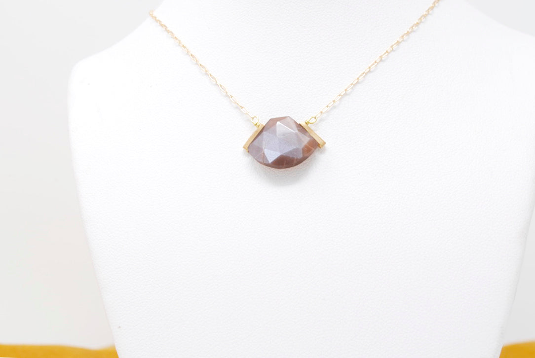 Daedal Moonstone Drop Necklace
