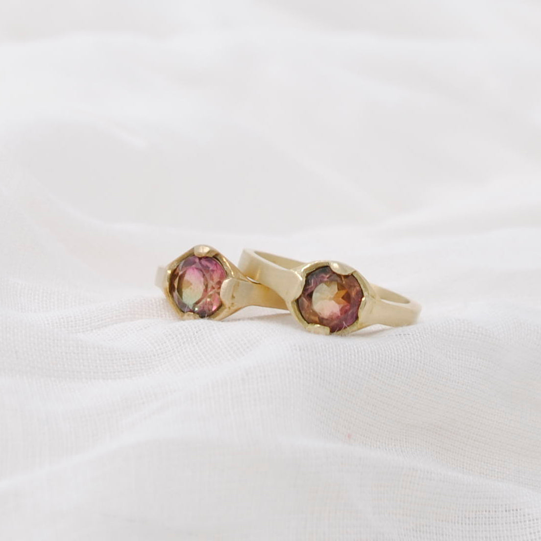 Daedal Etruscan Watermelon Tourmaline Ring