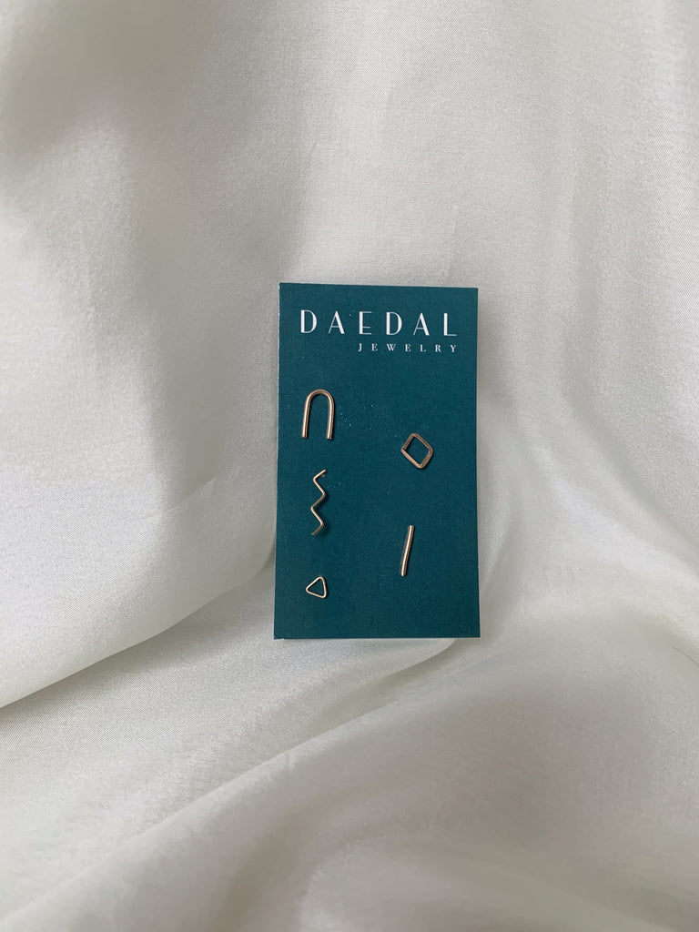 Daedal Mix and Match Gold Filled Studs
