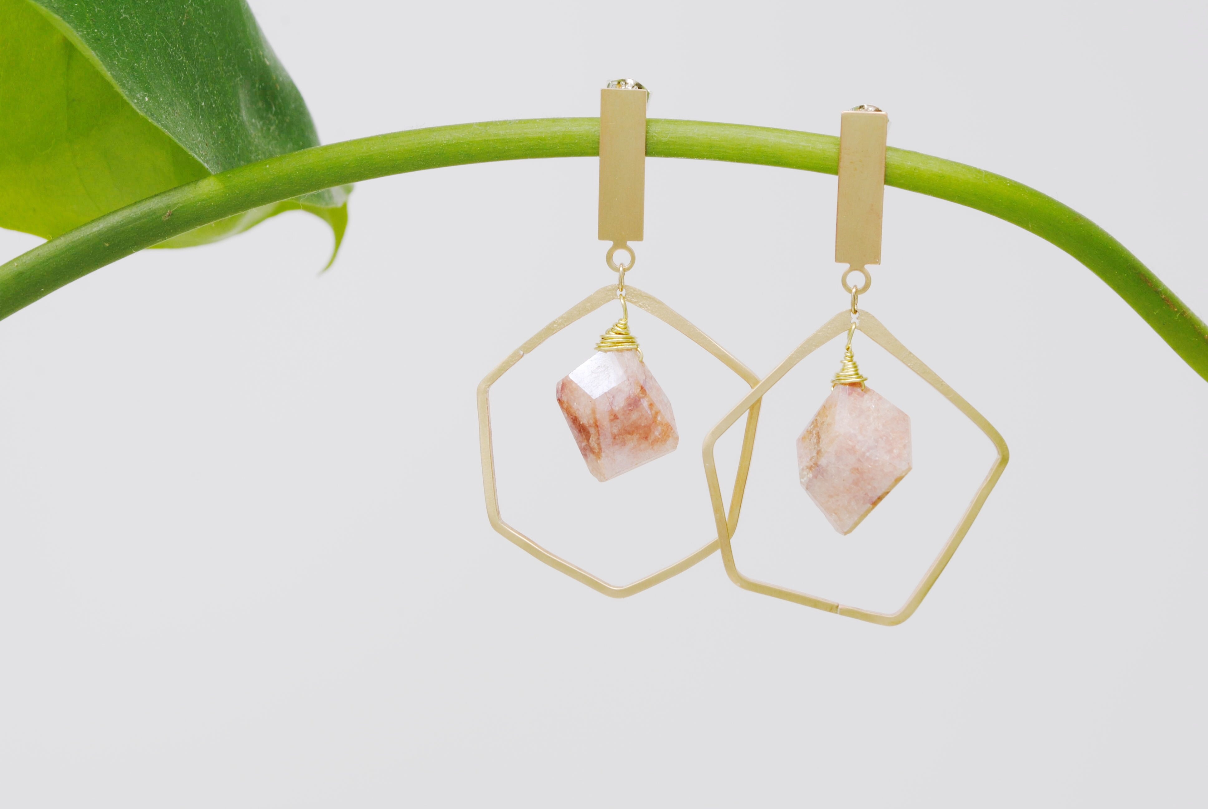 Daedal Nella Earrings (Rutilated Quartz)