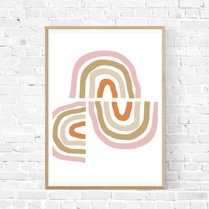 Pink Rainbows Art Print