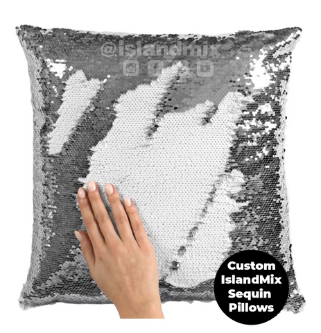 Bahamas decorative sequin pillow