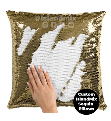 Image of Haiti decorative sequin pillow