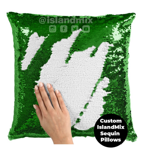 Haiti decorative sequin pillow