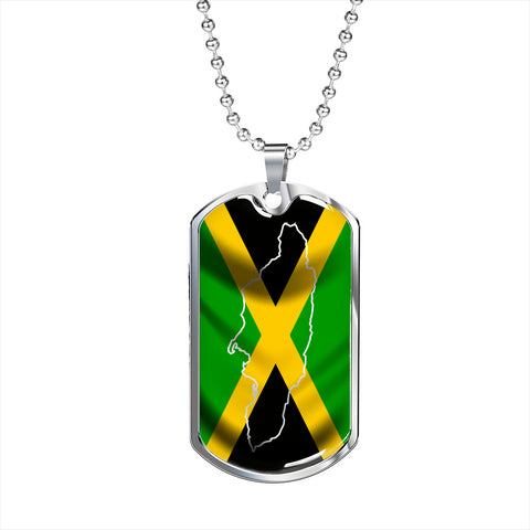 Jamaica Country ouline - Dog Tag Jewelry
