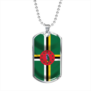 Dominica Flag - Dog Tag Jewelry