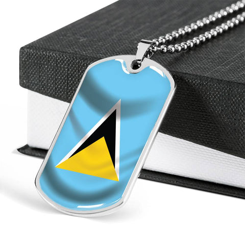St  Lucia Flag - Dog Tag Jewelry