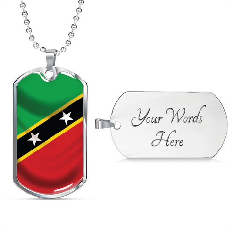 St Kitts and Nevis Flag - Dog Tag Jewelry