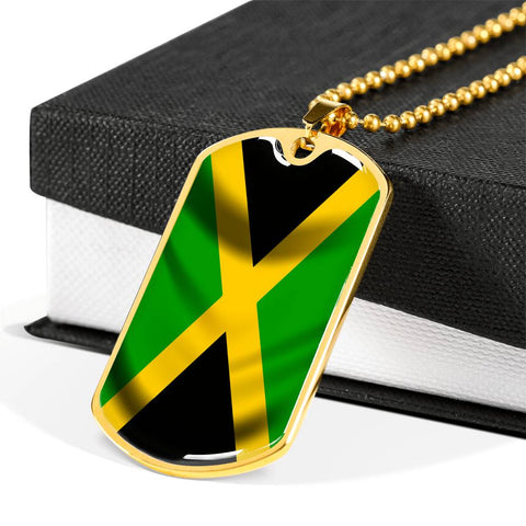 Image of Jamaica Flag - Dog Tag Jewelry