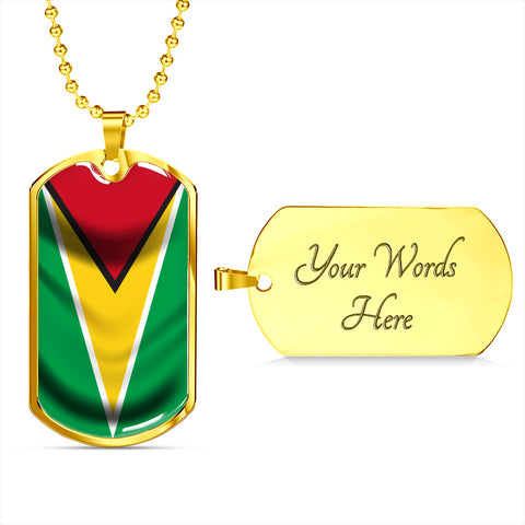 Image of Guyana Flag - Dog Tag Jewelry