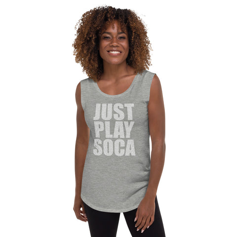Image of Just Play Soca - Ladies' Cap Sleeve T-Shirt