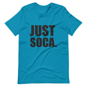 Just Soca -  Unisex Solid Black Print Pattern