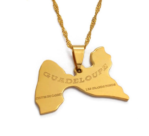 Guadeloupe Pendant Necklaces - Gold Color Jewelry