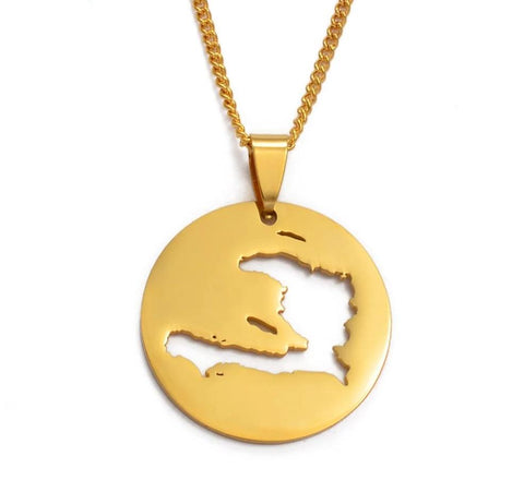 Haiti Map Necklace Pendants