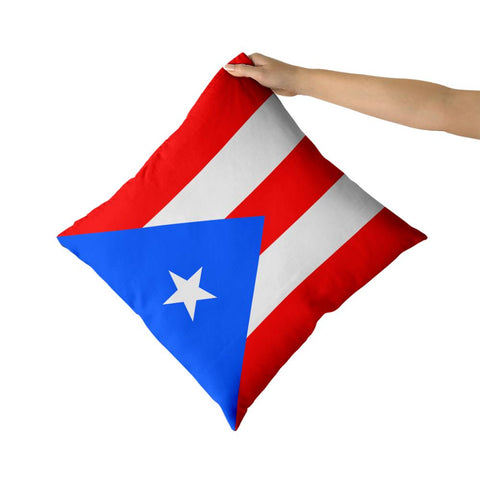 Puerto Rico Cotton Canvas custom pillow