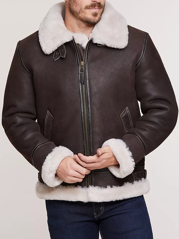 Fashion Long Sleeve Plush Leather Jacket