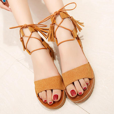 Plain  Flat  Velvet  Ankle Strap  Peep Toe  Casual Sandals
