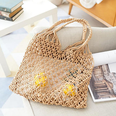 Fishing Net Weaving Hand Bag