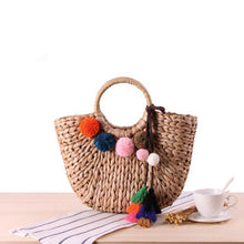 Load image into Gallery viewer, Fashion Hairball Fringe Shoulder Bag
