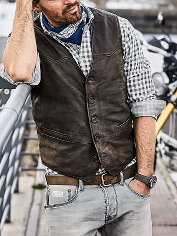 Mens Casual Single Breasted Vest