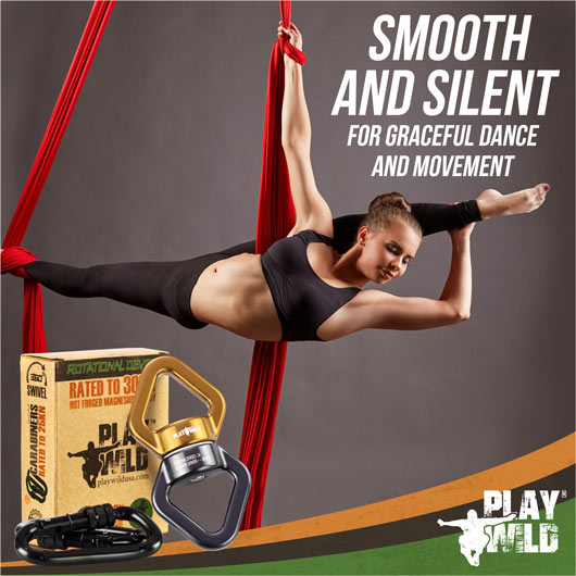 Swivel for Aerial Silks and Yoga